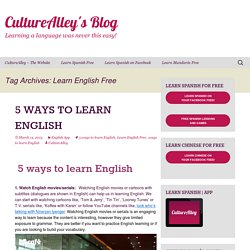 Learn English Free Archives