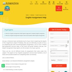 Experienced English Assignment Expert