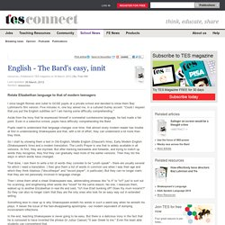 English - The Bard's easy, innit - resources - TES