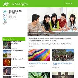 English Bites Series 7 - Learn English - Australia Plus