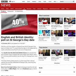 English and British identity: poll on St George's Day date