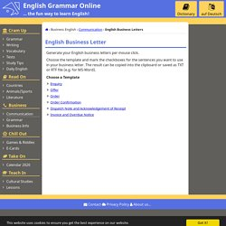 English Business Letters - Business-English
