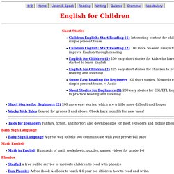 great........ESL - English for Children