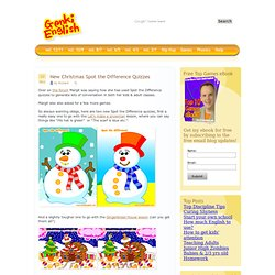 Genki English » New Christmas Spot the Difference Quizzes