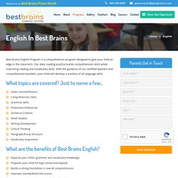 English Classes For Kids - Best Brains