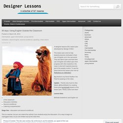 30 days: Using English Outside the Classroom « designer lessons