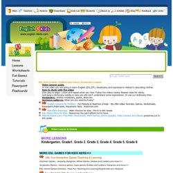 English, ESL Kids lesson, clothes vocabulary, jacket, dress, T-shirt