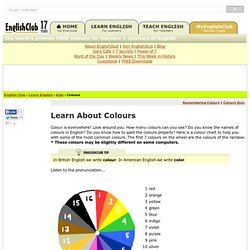 English For Kids: Learn about Colours