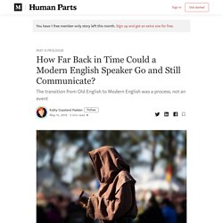 How Far Back in Time Could a Modern English Speaker Go and Still Communicate?