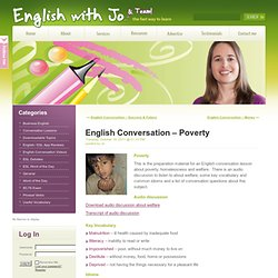 English Conversation – Poverty « English with Jo