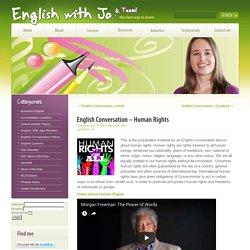 English Conversation – Human Rights