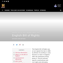 English Bill of Rights - Definition & Legacy - HISTORY