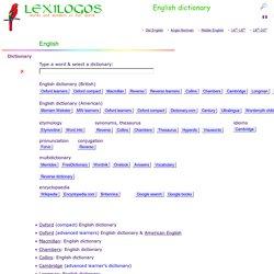 Dictionary online LEXILOGOS