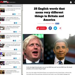 25 English words that mean very different things in Britain and America