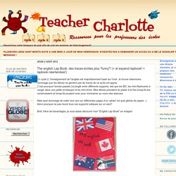 """Teacher Charlotte: The english Lap Book: des traces écrites plus """"funny""""! (+ el espanol lapbook!)"""