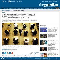 Number of English schools failing on GCSE targets doubles in a year