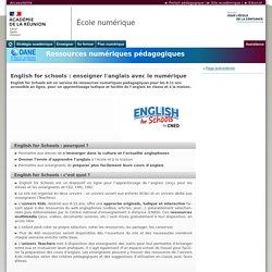 English for schools : enseigner l'anglais avec le numérique