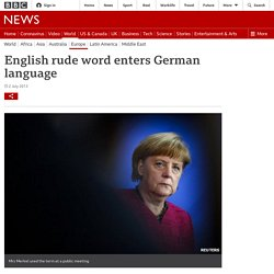 English rude word enters German language