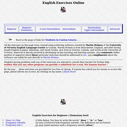 English Exercises Online! (by Lilliam Hurst)