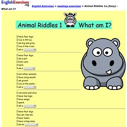Animal Riddles 1a (Easy) - What am I?