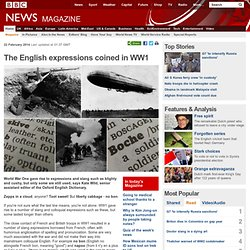 The English expressions coined in WW1