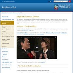 English Grammar: Articles