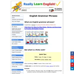English Grammar Phrases