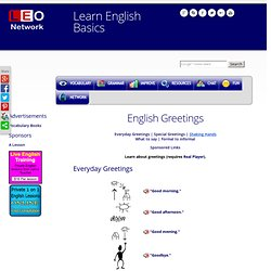English Greetings - Learn English Basics