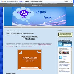 English Freak: HALLOWEEN DOMINO (PRINTABLE)