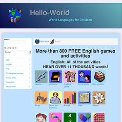 Learn English and have fun with games, activities, and dialogs