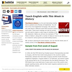 Teach English With This Week in History