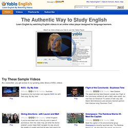 Yabla English - English Immersion TV