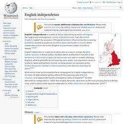 English independence