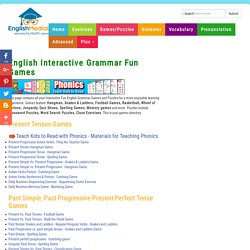 ESL,English Interactive Grammar Fun Games