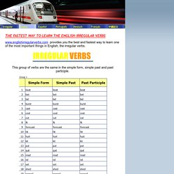 English - English Irregular Verbs