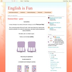 English is Fun: Summertime - game