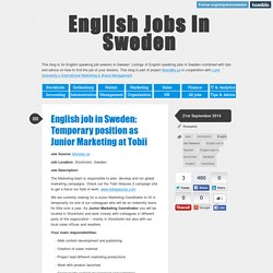English Jobs in Sweden