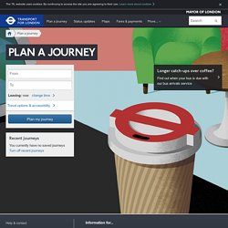 English - Journey Planner - Transport for London
