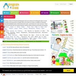 English Lessons for Kindergarten, Preschool ESL lessons for Nursery school