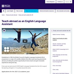 Teach abroad as an English Language Assistant