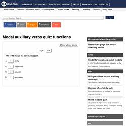 English language quiz - modal auxiliary verbs - 02