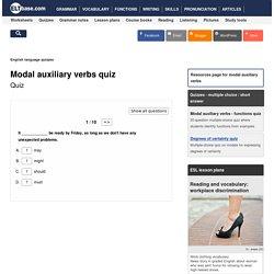 English language quiz - modal auxiliary verbs - 01