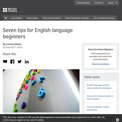 Seven tips for English language beginners