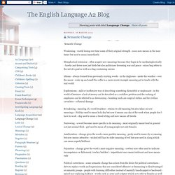 The English Language A2 Blog: Language Change