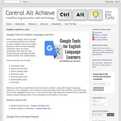 Google Tools for English Language Learners