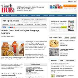 How to Teach Math to English Language Learners