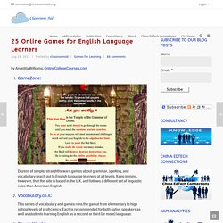 25 Online Games for English Language Learners