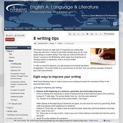 IB English A: Language & Literature: 8 writing tips