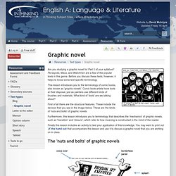 Graphic novel - Text types - IB English A: Language & Literature