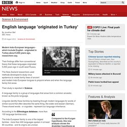 English language 'originated in Turkey'